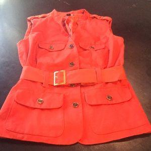 Super Cute Orange Safari Style Small Jacket w/Belt